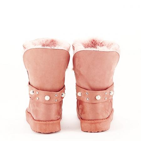 Cizme roz tip ugg Mia [6]