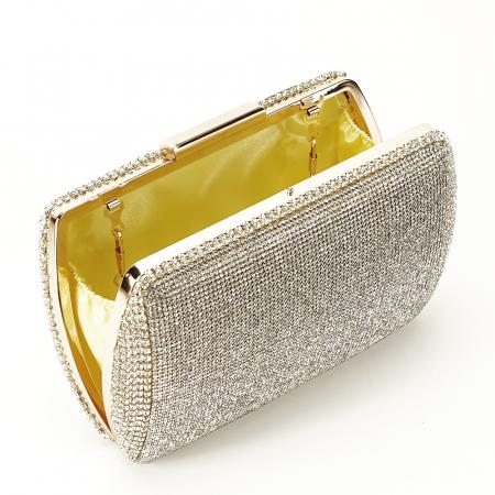 Geanta clutch argintie Agness [2]