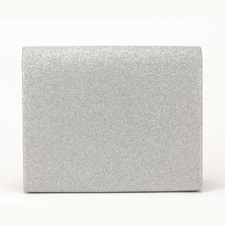 Geanta argintie tip clutch Emma2