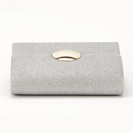 Geanta argintie tip clutch Emma6