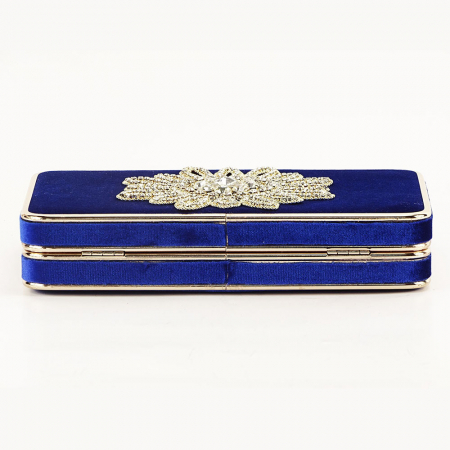 Geanta clutch albastra Beauty6