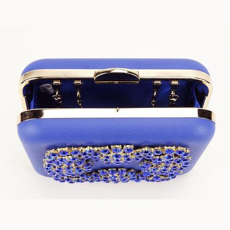 Geanta clutch albastru Ingrid6