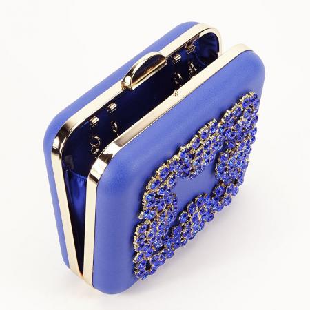 Geanta clutch albastru Ingrid1