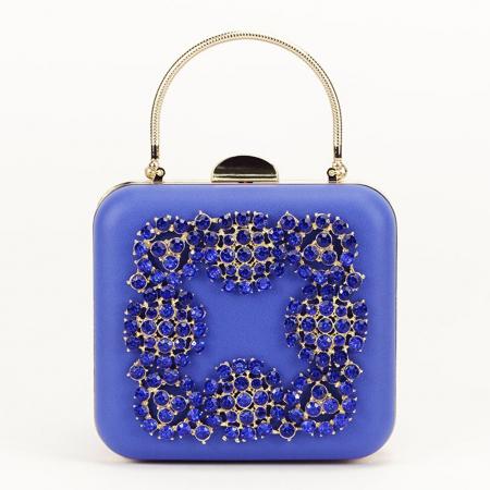 Geanta clutch albastru Ingrid0