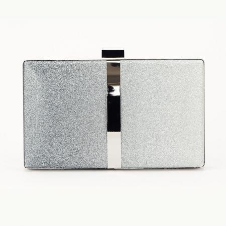 Geanta clutch argintie Bianca3