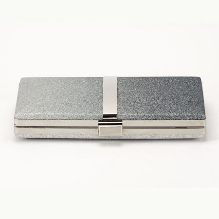Geanta clutch argintie Bianca4