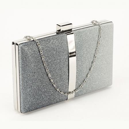 Geanta clutch argintie Bianca0
