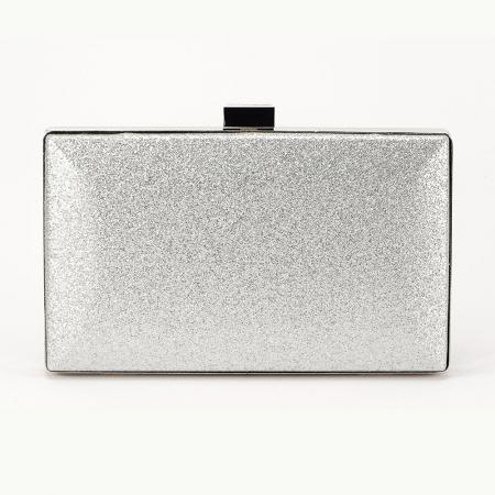 Geanta clutch argintie Bianca2