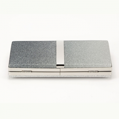 Geanta clutch argintie Bianca5