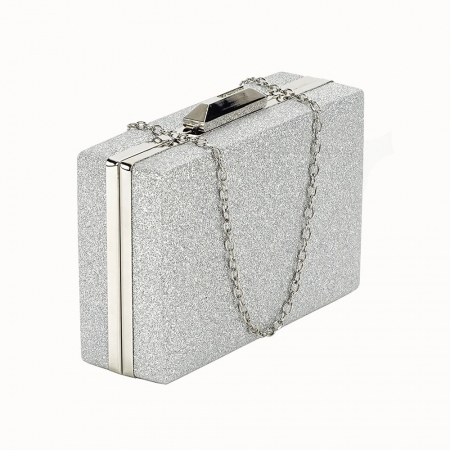 Geanta clutch argintie Eliza0