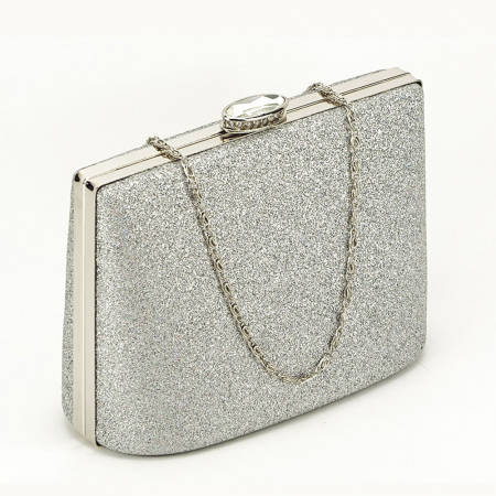 Geanta clutch argintie Lavinia1