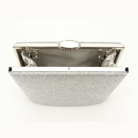 Geanta clutch argintie Lavinia5
