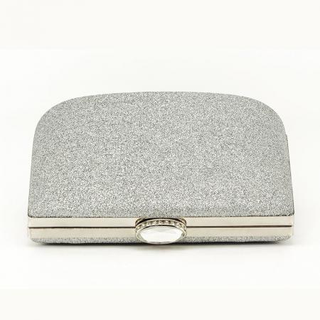 Geanta clutch argintie Lavinia3