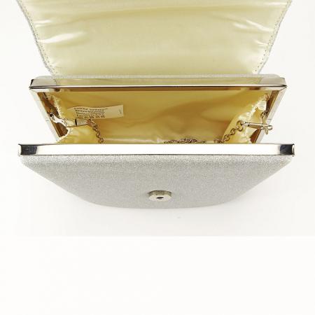 Geanta clutch argintie Lora5