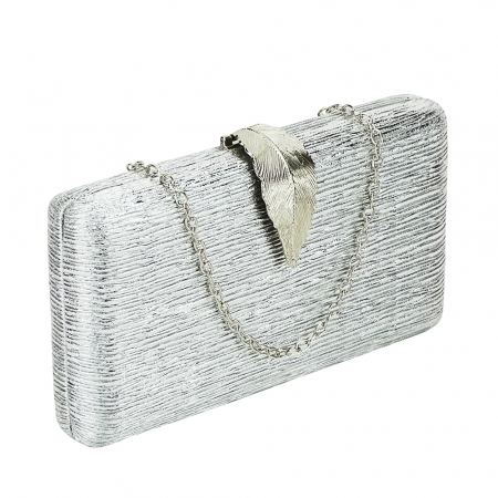 Geanta clutch argintie Nicole [0]