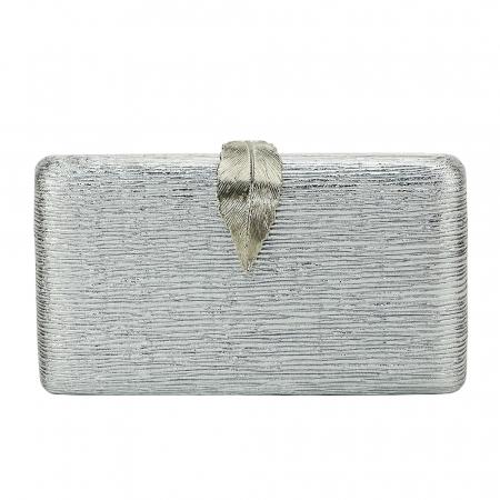 Geanta clutch argintie Nicole [1]