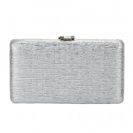 Geanta clutch argintie Nicole3