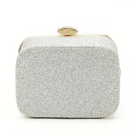 Geanta clutch argintie tip cutie Bonnie [4]
