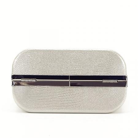 Geanta clutch argintiu cu imprimeu Noemi6