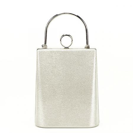 Geanta clutch argintiu cu imprimeu Noemi0