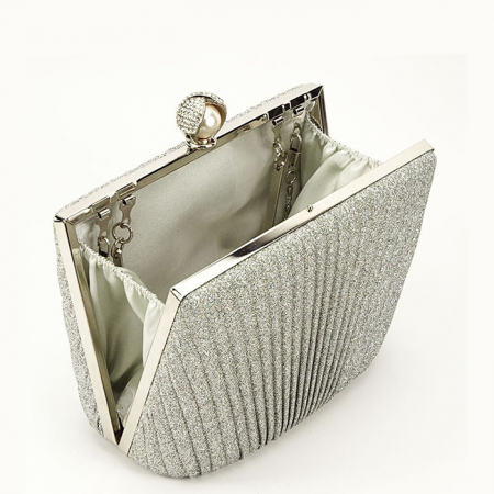 Geanta clutch argintiu Ecaterina3