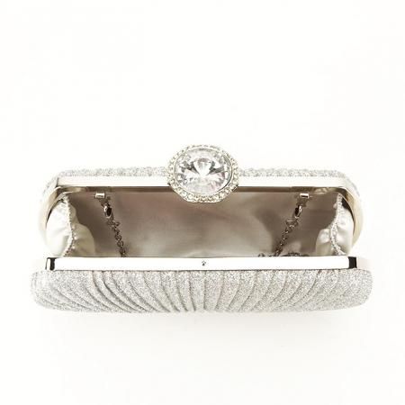 Geanta clutch argintiu Elisabeta4