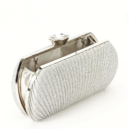 Geanta clutch argintiu Elisabeta3