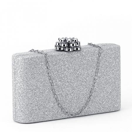 Geanta clutch argintiu Glory [0]