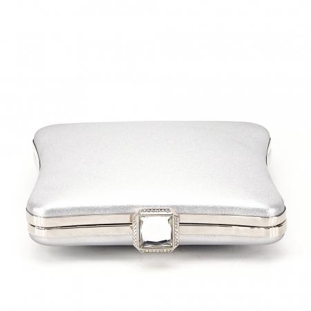 Geanta clutch argintiu Mara2