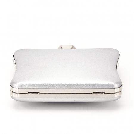 Geanta clutch argintiu Mara3