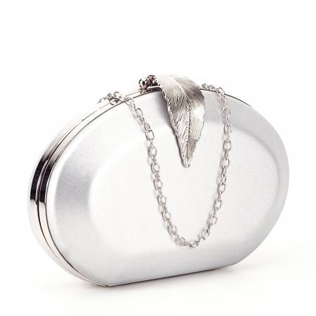 Geanta clutch argintiu Margareta0