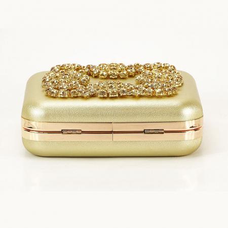 Geanta clutch auriu Ingrid6