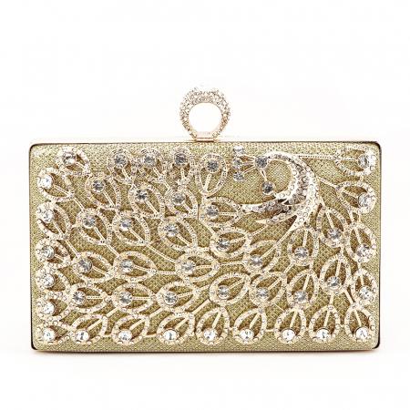 Geanta clutch auriu Rania [0]