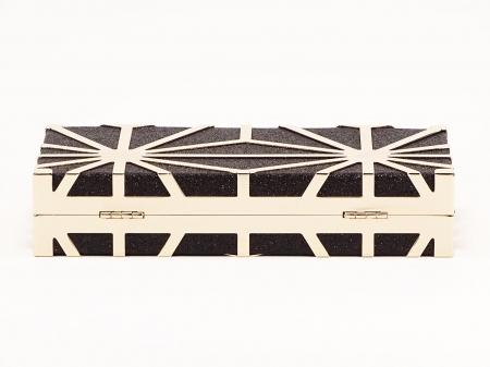 Geanta clutch neagra Alison3