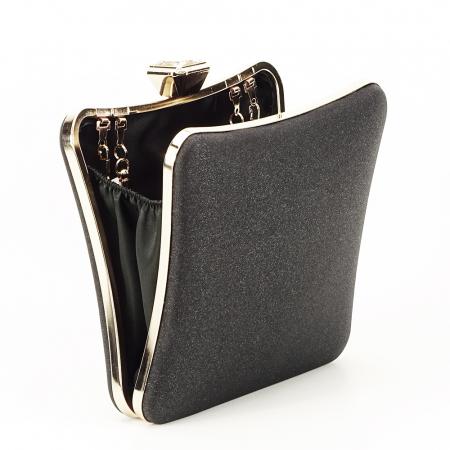 Geanta clutch negru Mara2