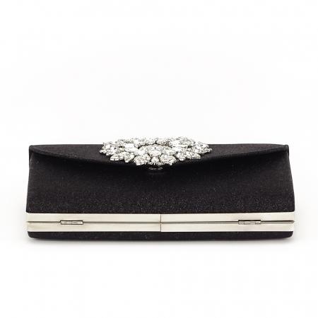 Geanta clutch negru elegant Bella2