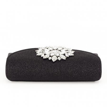 Geanta clutch negru elegant Bella3