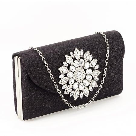 Geanta clutch negru elegant Bella0