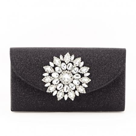 Geanta clutch negru elegant Bella1