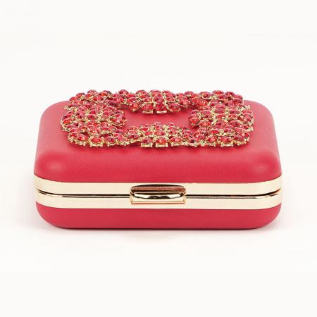 Geanta clutch rosu Ingrid4