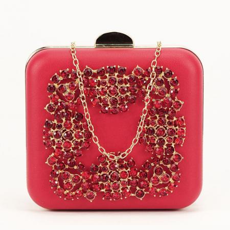 Geanta clutch rosu Ingrid2