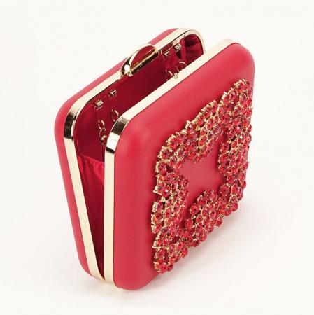 Geanta clutch rosu Ingrid1