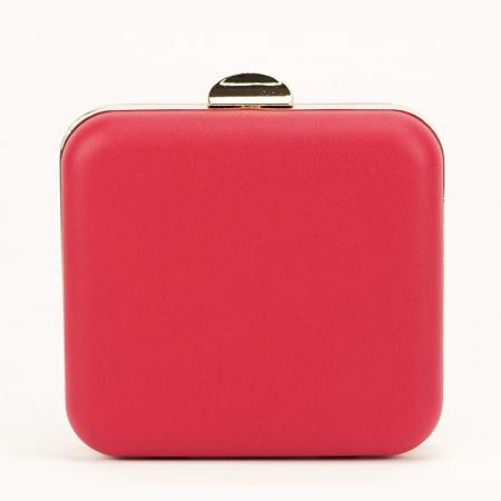 Geanta clutch rosu Ingrid3
