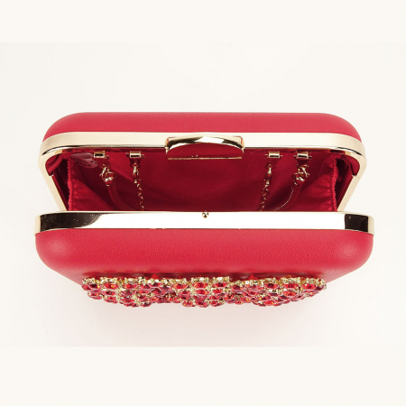 Geanta clutch rosu Ingrid5