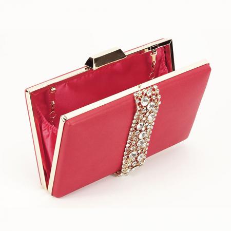 Geanta clutch rosu Olympia4