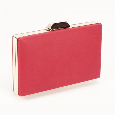 Geanta clutch rosu Olympia3