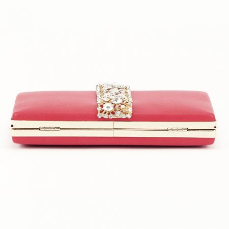 Geanta clutch rosu Olympia6