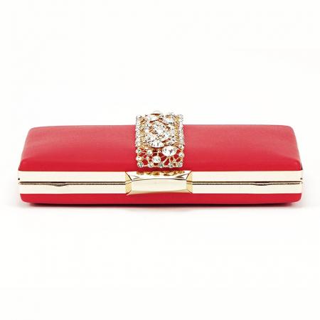 Geanta clutch rosu Olympia5