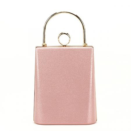 Geanta clutch roz cu imprimeu Noemi [0]