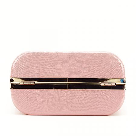 Geanta clutch roz cu imprimeu Noemi [5]